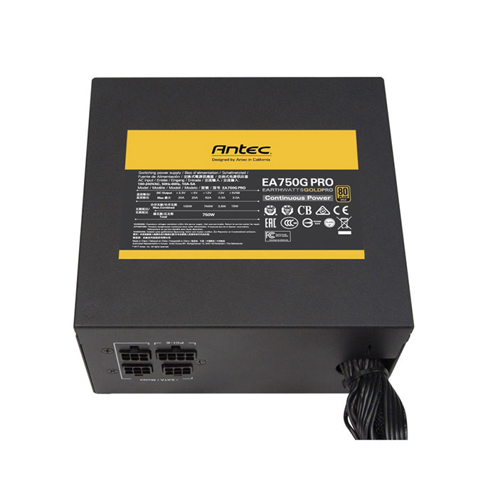 ANTEC EA750G Pro Smps - 750 Watt 80 Plus Gold Certification Semi Modular Psu