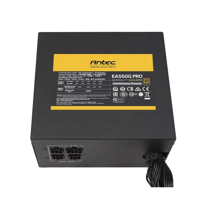 ANTEC SMPS EA550G PRO - 550 WATT 80 PLUS GOLD CERTIFICATION SEMI MODULAR PSU