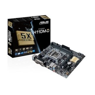 ASUS H110M-D Motherboard (Intel Socket 1151/7th And 6th Generation Core Series CPU/Max 32GB DDR4-2400MHz Memory)
