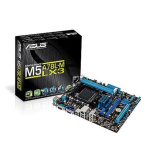 ASUS M5A78L-M LX3 Motherboard (Amd Socket AM3+/ FX, Phenom II, Athlon II And Sempron 100 Series CPU/Max 16GB DDR3-1866MHz Memory)