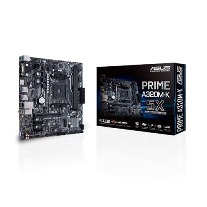 ASUS PRIME A320M-K Motherboard (Amd Socket AM4/Ryzen Series CPU/Max 32GB DDR4-3200MHz Memory)