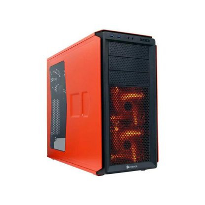 CORSAIR 230T (ATX) Mid Tower Cabinet - With Transparent Side Panel (Orange)
