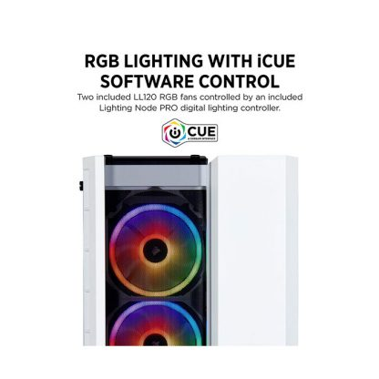 CORSAIR 280X RGB (M-ATX) Mini Tower Cabinet - With Tempered Glass Side Panel And RGB Fan Controller (White)