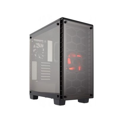 CORSAIR 460X (ATX) Mid Tower Cabinet - With Tempered Glass Side Panel (Black)