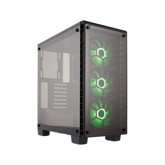 CORSAIR 460X RGB (ATX) Mid Tower Cabinet - With Tempered Glass Side Panel And RGB Fan Controller (Black)