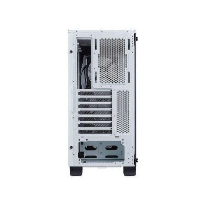 CORSAIR 460X RGB (ATX) Mid Tower Cabinet - With Tempered Glass Side Panel And RGB Fan Controller (White)