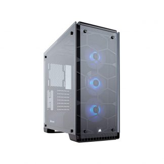 CORSAIR 570X RGB (ATX) Mid Tower Cabinet - With Tempered Glass Side Panel And RGB Fan Controller (Black)