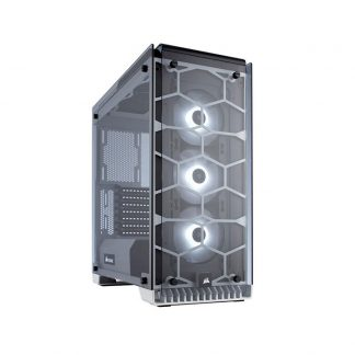 CORSAIR 570X RGB (ATX) Mid Tower Cabinet - With Tempered Glass Side Panel And RGB Fan Controller (White)