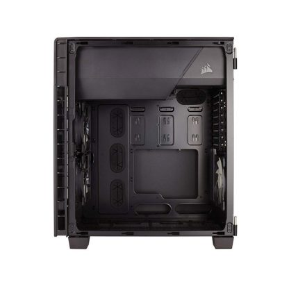 CORSAIR 600C (E-ATX) Mid Tower Cabinet - With Transparent Side Panel (Black)