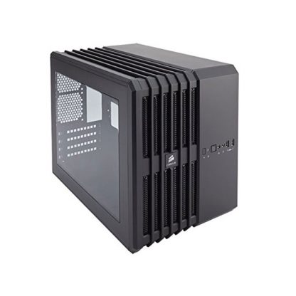 CORSAIR AIR 240 (M-ATX) Mini Tower Cabinet - With Transparent Side Panel (Black)