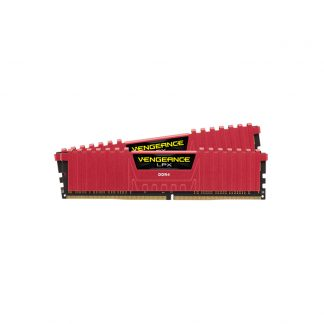 CORSAIR Desktop Ram Vengeance Lpx Series - 16GB (8GBx2) DDR4 DRAM 2400MHz Red