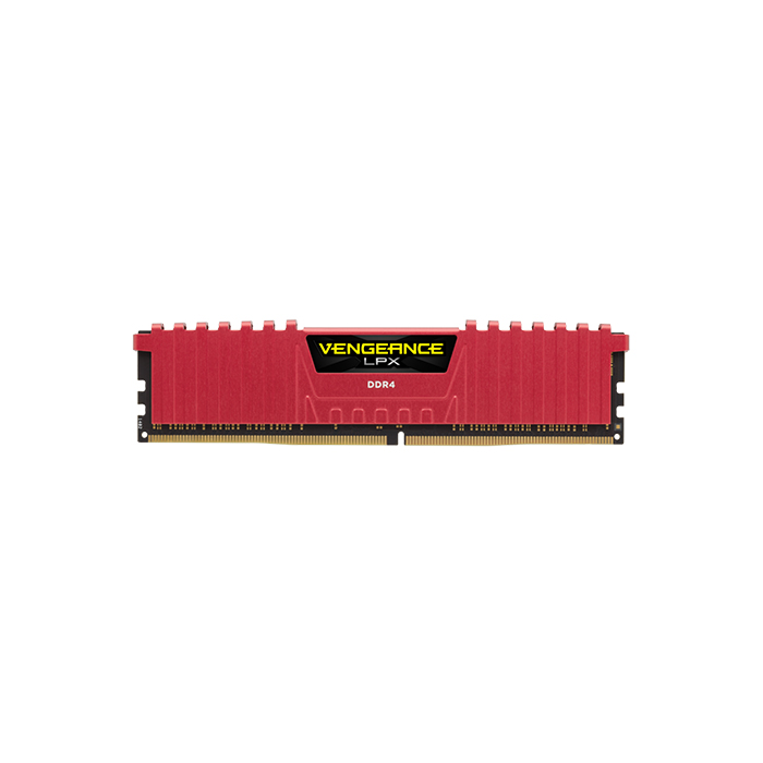 CORSAIR Desktop Ram Vengeance Lpx Series - 4GB (4GBx1) DDR4 2400MHz Red
