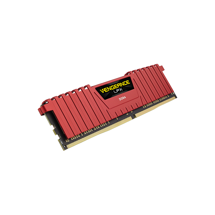 CORSAIR Desktop Vengeance LPX Series - 8GB (8GBx1) DDR4 2400MHz Red RAM (CMK8GX4M1A2400C16R)
