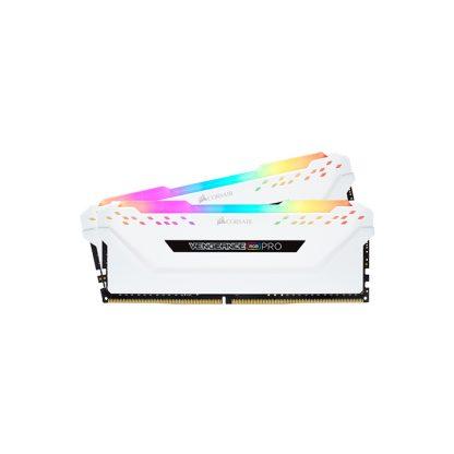 CORSAIR Desktop Ram Vengeance RGB Pro Series - 16GB (8GBx2) DDR4 3200MHz White