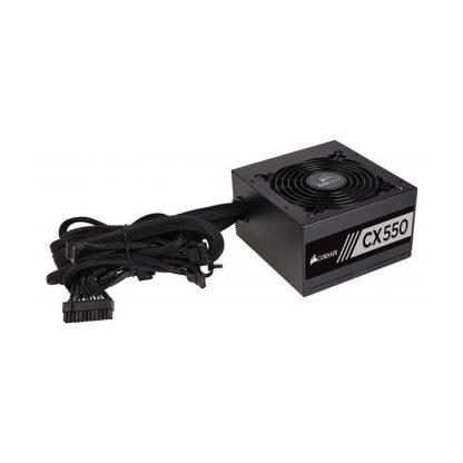 CORSAIR SMPS CX550 - 550 WATT 80 PLUS BRONZE CERTIFICATION PSU WITH ACTIVE PFC