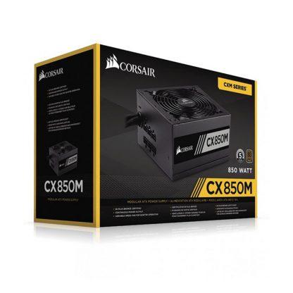 CORSAIR SMPS CX850M - 850 WATT 80 PLUS BRONZE CERTIFICATION SEMI MODULAR PSU WITH ACTIVE PFC