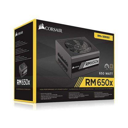 CORSAIR SMPS RM650X - 650 WATT 80 PLUS GOLD CERTIFICATION FULLY MODULAR PSU