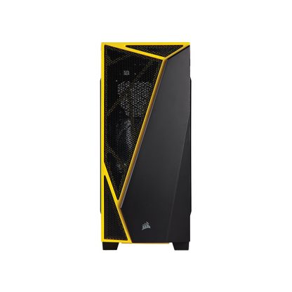 CORSAIR SPEC 4 (ATX) Mid Tower Cabinet - With Transparent Side Panel (Black/Yellow)