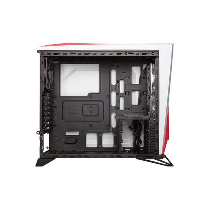 CORSAIR SPEC-ALPHA (ATX) Mid Tower Cabinet - With Transparent Side Panel (White/Red)