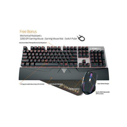 Gamdias Hermes E1 Mechanical keyboard + Mouse + Mouse Pad Combo