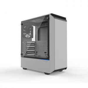 PHANTEKS ECLIPSE P300 (E-ATX) Mid Tower Cabinet - With Tempered Glass Side Panel (White)