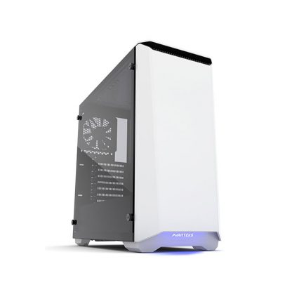 PHANTEKS ECLIPSE P400 (E-ATX) Mid Tower Cabinet - With Tempered Glass Side Panel And Halos RGB Fan Frames (White)