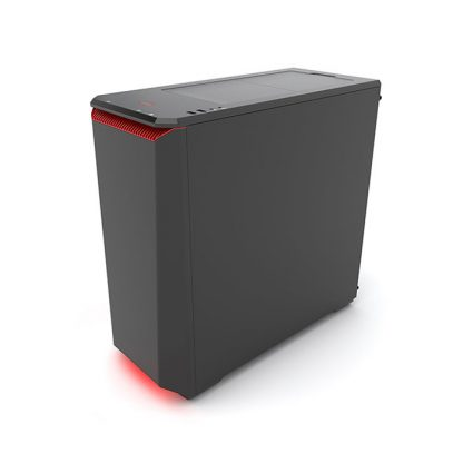 PHANTEKS ECLIPSE P400S (E-ATX) Mid Tower Cabinet - With Tempered Glass Side Panel And Halos RGB Fan Frames (Black Red)