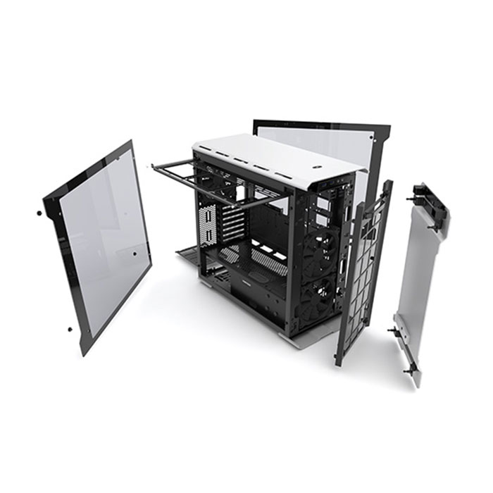 PHANTEKS ENTHOO EVOLV (E-ATX) Mid Tower Cabinet - With Tempered Glass Side Panel And RGB LED Controller (Silver)