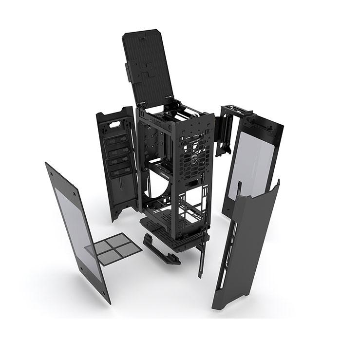 PHANTEKS ENTHOO EVOLV SHIFT X (M-ITX) Mini Tower Cabinet - With Dual Side Tempered Glass (Black)