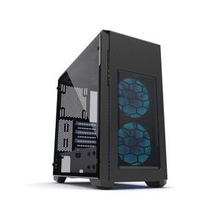 PHANTEKS ENTHOO PRO M (E-ATX) Special Edition Mid Tower Cabinet With Tempered Glass Side Panel And Halos RGB Fan Frames (Black)