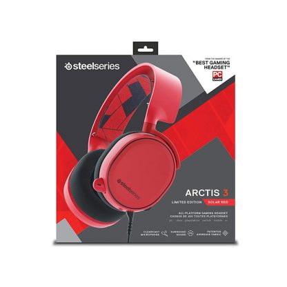 SteelSeries Arctis 3 Gaming Headset Solar Red