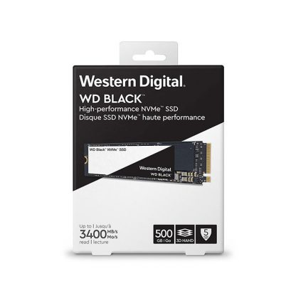 WESTERN DIGITAL Black 3D NAND 500GB M.2 NVMe Internal SSD