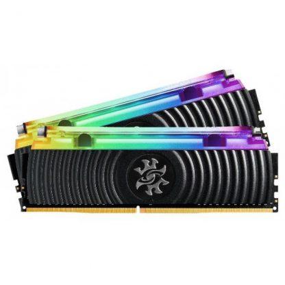 ADATA XPG SPECTRIX D80 16GB (8GBX2) DDR4 3000MHZ RGB LIQUID COOLING BLACK EDITION RAM (AX4U300038G16-DB80)