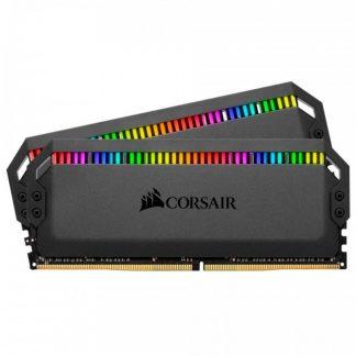 CORSAIR DOMINATOR PLATINUM RGB 32GB (16GB X 2) DDR4 DRAM 3000MHZ C15 RAM (CMD32GX4M2B3000C15)