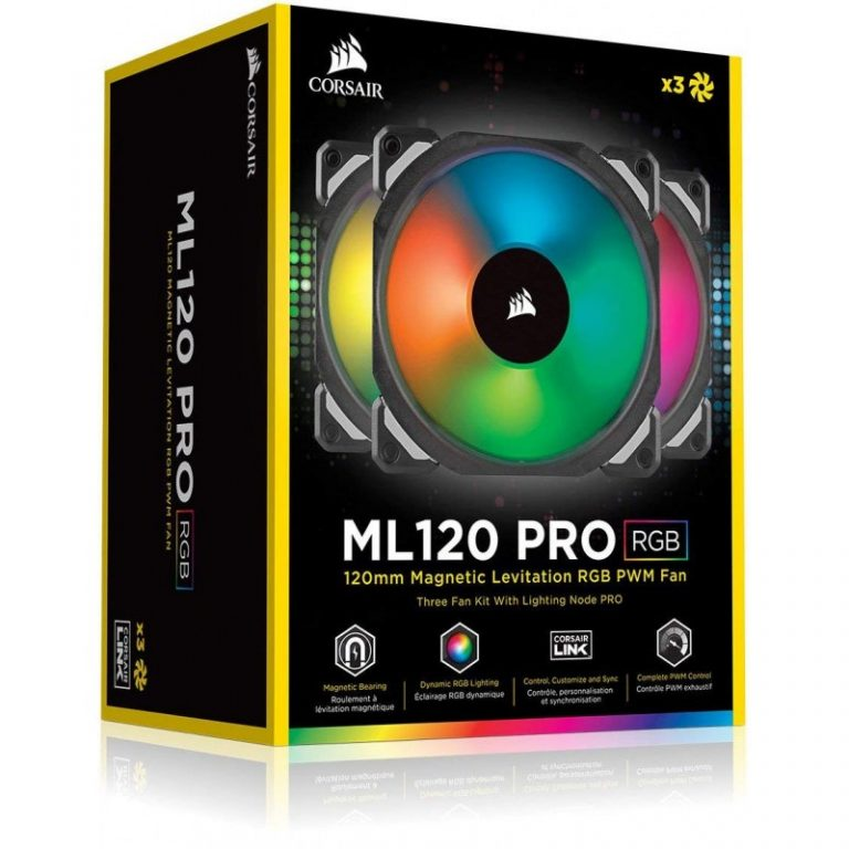 CORSAIR ML120 PRO RGB LED 120MM PWM CABINET FAN