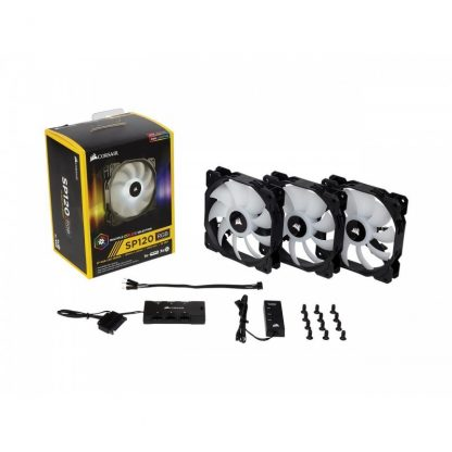 CORSAIR SP120 LED RGB HIGH PERFORMANCE THREE PACK WITH CONTROLLER 120MM CABINET FAN