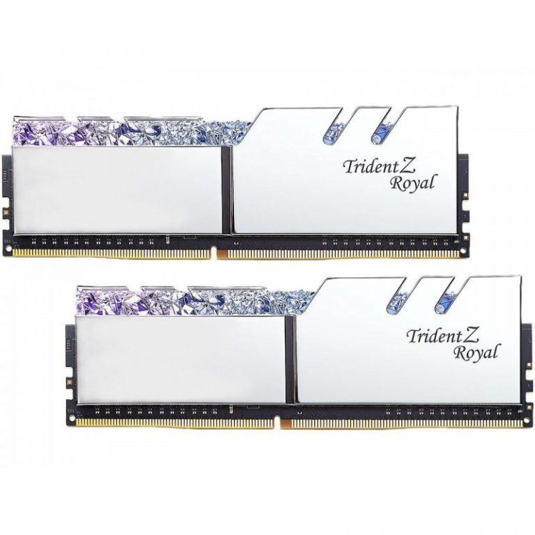 G.SKILL 16GB (8GBX2) DDR4 - 3200MHZ TRIDENT Z ROYAL SERIES RAM (F4-3200C16D-16GTRS)