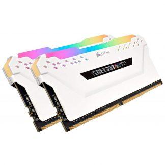 CORSAIR 32GB (2 X 16GB) DDR4 DRAM 3200MHZ C16 VENGEANCE RGB PRO SERIES - WHITE (CMW32GX4M2C3200C16W)