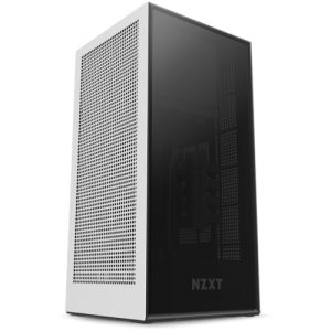 NZXT H1 Cabinet With PSU, AIO, And Riser Card (Matte White) (CA-H16WR-W1-UK)