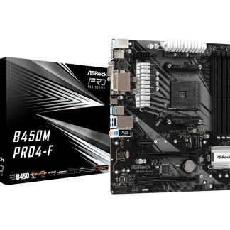 ASRock B450M Pro4-F AMD AM4 Socket Motherboard