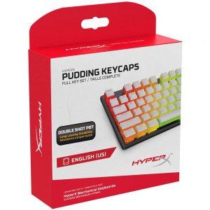 HyperX Pudding Keycaps White