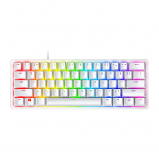 Razer Huntsman Mini Gaming Keyboard - Linear Optical Switches - Chroma RGB Lighting - PBT Keycaps - Mercury White (RZ03-03390400-R3M1)