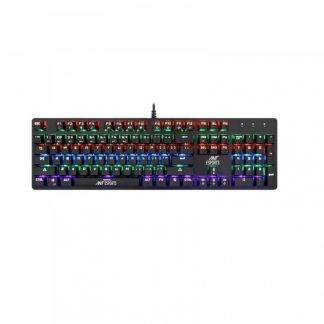 ANT ESPORTS MK3200 MULTICOLOUR LED BACKLIT WIRED MECHANICAL GAMING KEYBOARD WITH OUTEMU BLUE SWITCHES (BLACK) (MK3200)