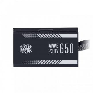 COOLER MASTER MWE 650 WHITE 230V V2 - 650 WATT 80 PLUS CERTIFIED (MPE-6501-ACABW-IN)