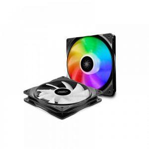 DEEPCOOL CF140 2 IN 1 MB CONTROLLED 140MM ARGB LED CASE FAN (DP-FA-RGB-CF140-2)