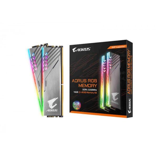 GIGABYTE AORUS RGB 16GB (8GBX2) DDR4 3200MHZ (GP-AR32C16S8K2HU416R)