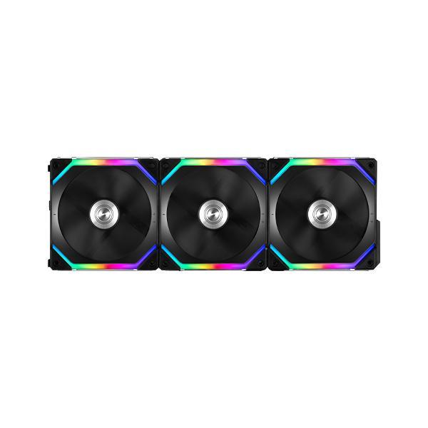 LIAN LI UNI FAN SL120 BLACK 120mm ARGB CABINET FAN (Triple Pack)
