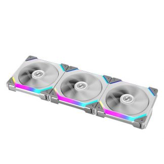 LIAN LI UNI FAN SL120 WHITE 120mm ARGB CABINET FAN (Triple Pack) (G99.12UF3W.IN)