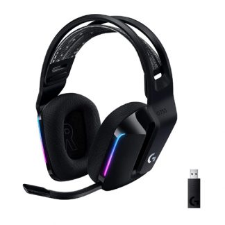 Logitech G733 Ultra-Lightweight Wireless Gaming Headset - Black (981-000867)