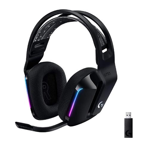Logitech G733 Ultra-Lightweight Wireless Gaming Headset - Black (981-000867)